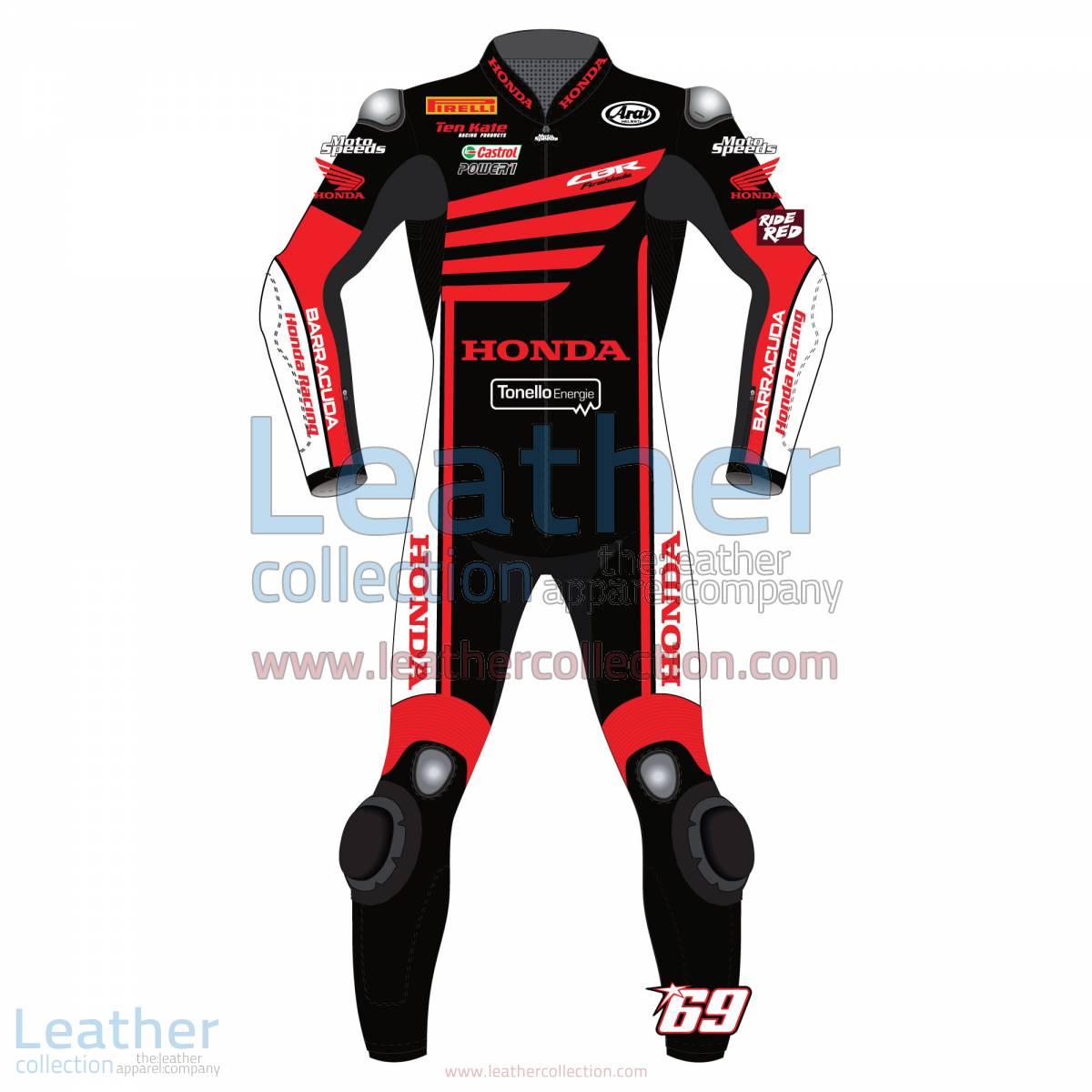 Nicky Hayden WSBK Winter Test Honda 2015 Motorcycle Suit | Nicky Hayden Honda,Nicky Hayden WSBK Winter Test Honda 2015 Motorcycle Suit