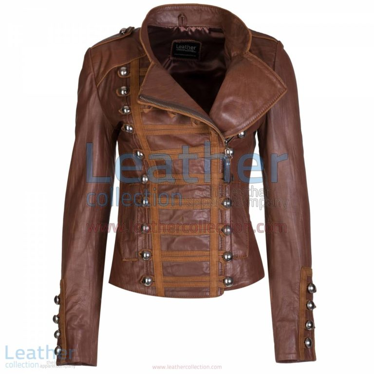 Princess Antique Brown Leather Jacket | antique leather jacket,princess jacket