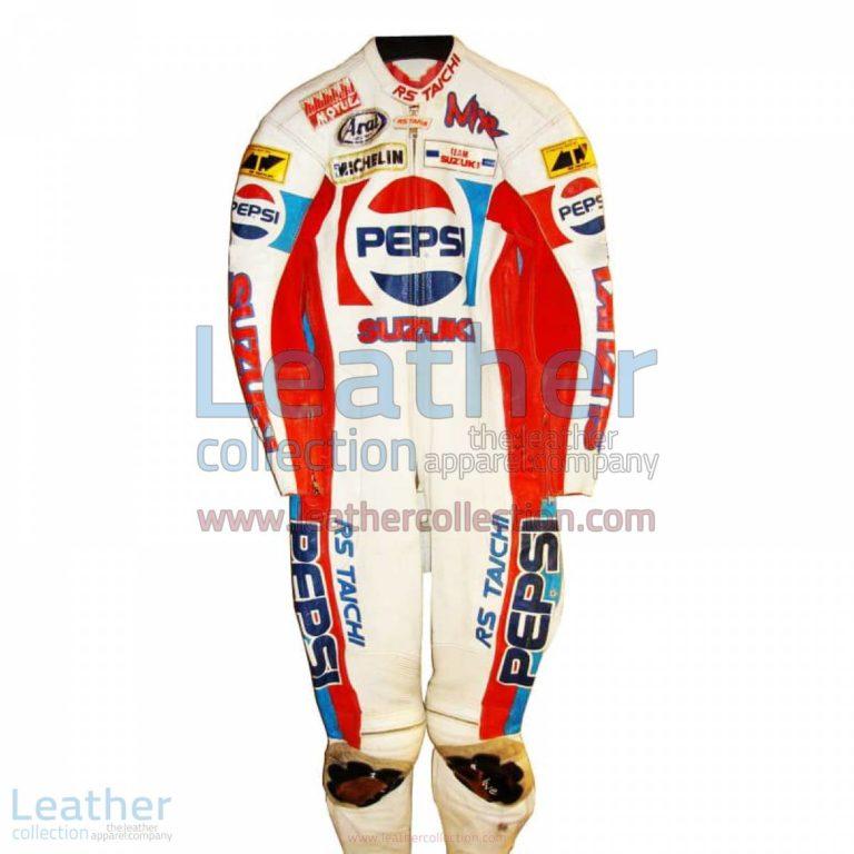 Rob McElnea Pepsi Suzuki GP 1988 Racing Leathers | suzuki racing apparel,racing leathers