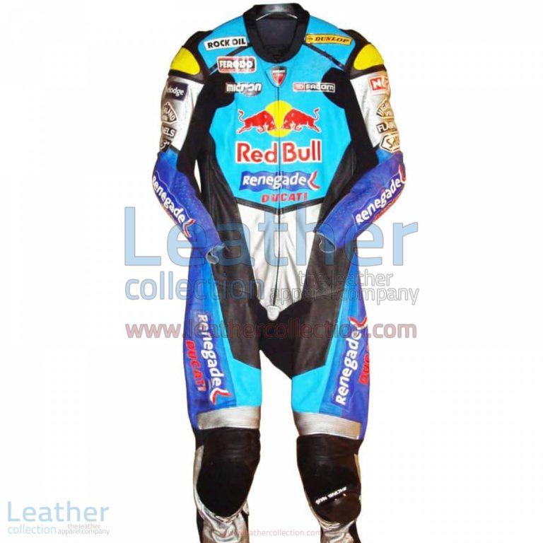 Sean Emmett Red Bull Ducati WSBK 2003 Race Suit   red bull suit,ducati race suit
