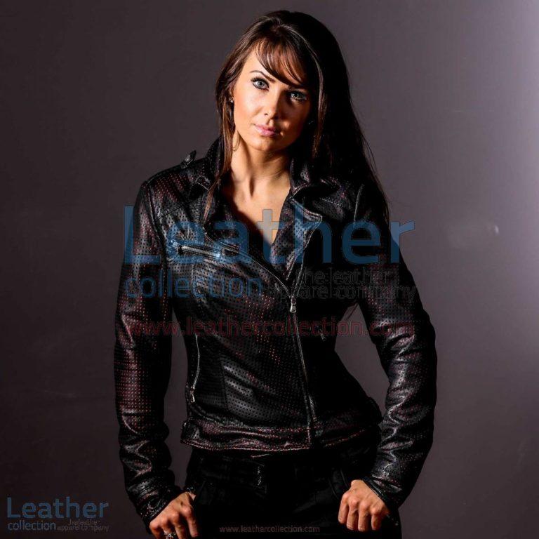 She Devil Perforated Bomber jacket | bomber jacket,perforated bomber jacket