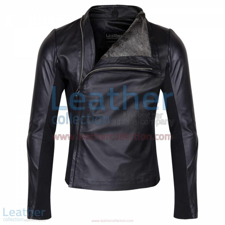 Slim & Smart Leather Jacket with Fur Lining   smart jacket,jacket with fur lining