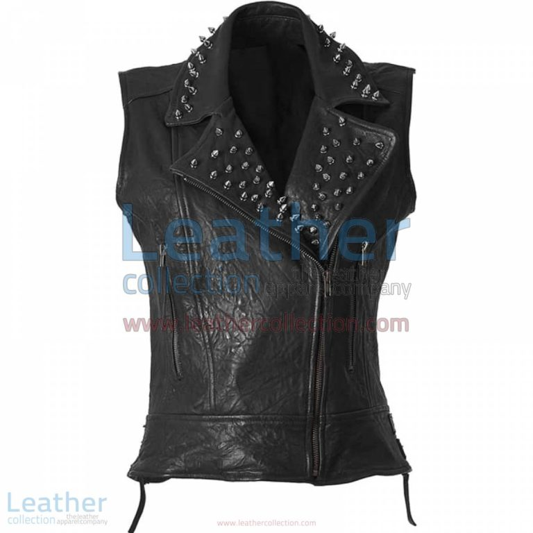 Spiked Fashion Leather Vest | spiked vest,spiked leather vest
