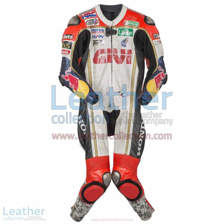Stefan Bradl Honda 2013 Leather Suit | leather suit,honda leather suit