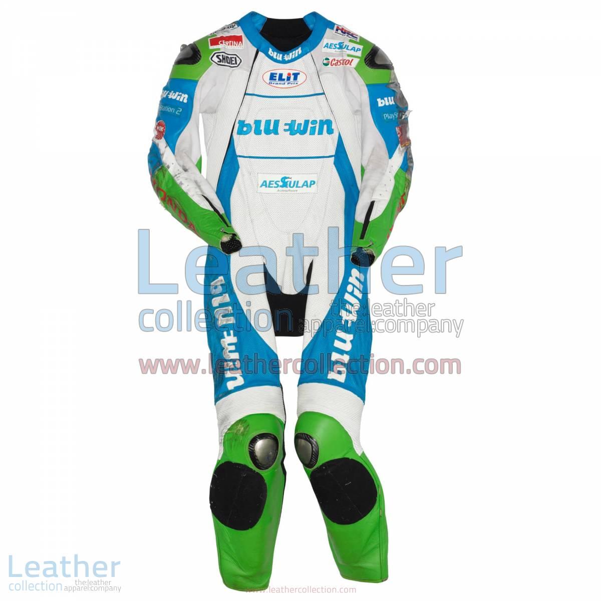 Thomas Luthi Honda GP 2005 Leather Suit   thomas luthi,honda suit