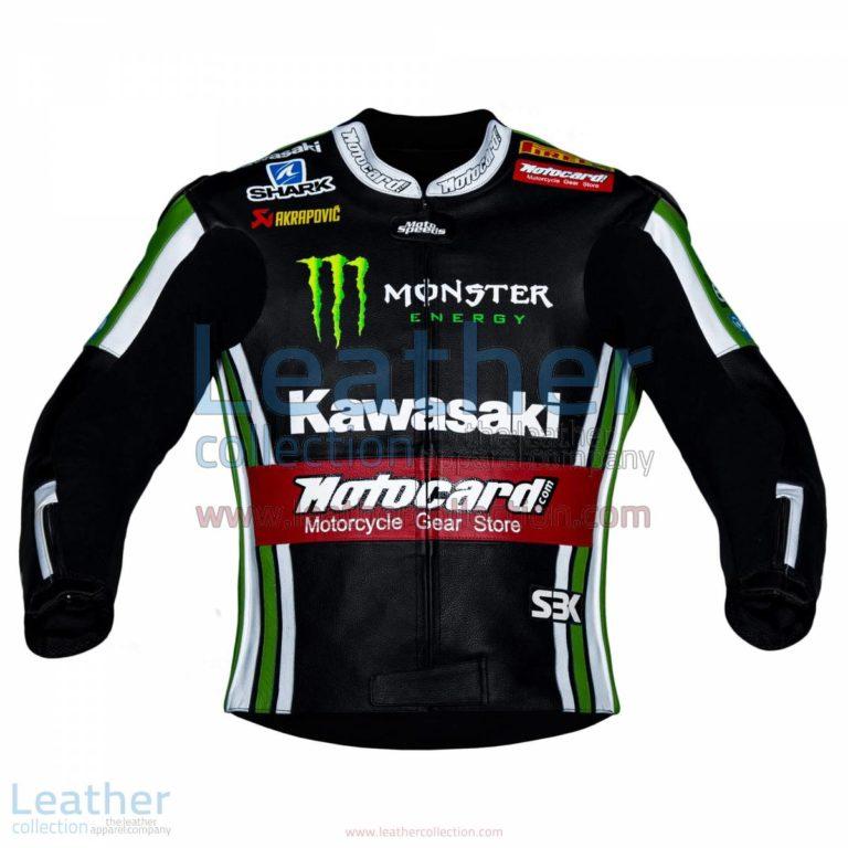 Tom Sykes Kawasaki 2015 SBK Leather Jacket   kawasaki jacket,tom sykes