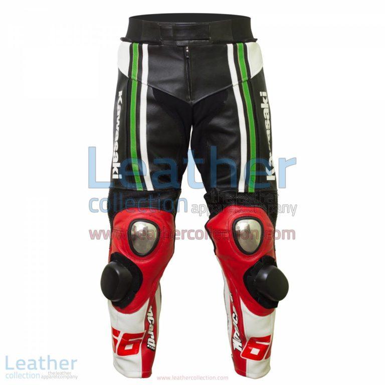 Tom Sykes Kawasaki 2015 SBK Leather Pants | biker leather pants,kawasaki pants