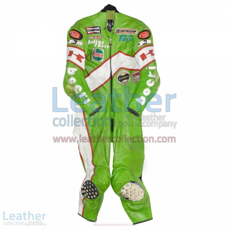 Toni Mang Kawasaki GP 1981 Leathers   kawasaki clothing,kawasaki leathers