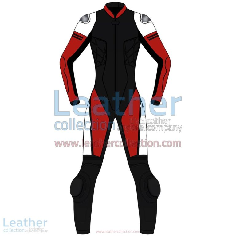 Tri Color One-Piece Motorbike Leather Suit For Women | motorcycle Suit Women,Tri Color One-Piece motorcycle Leather Suit For Women