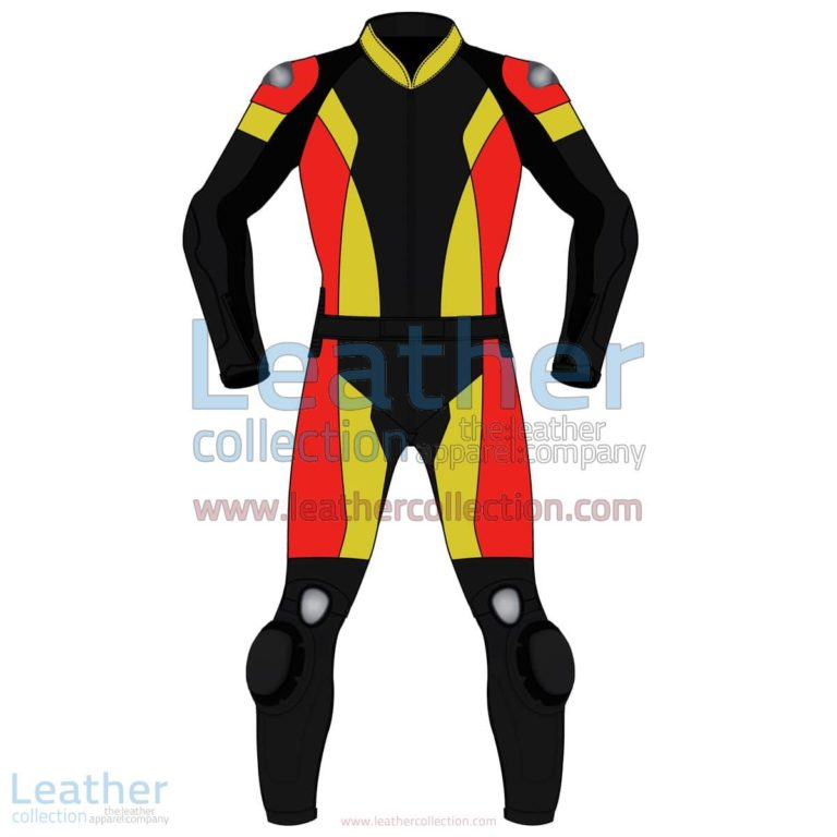 Tri Color Two-Piece Motorbike Leather Suit For Men | Two Piece motorcycle Leather Suit,Tri Color Two-Piece motorcycle Leather Suit For Men