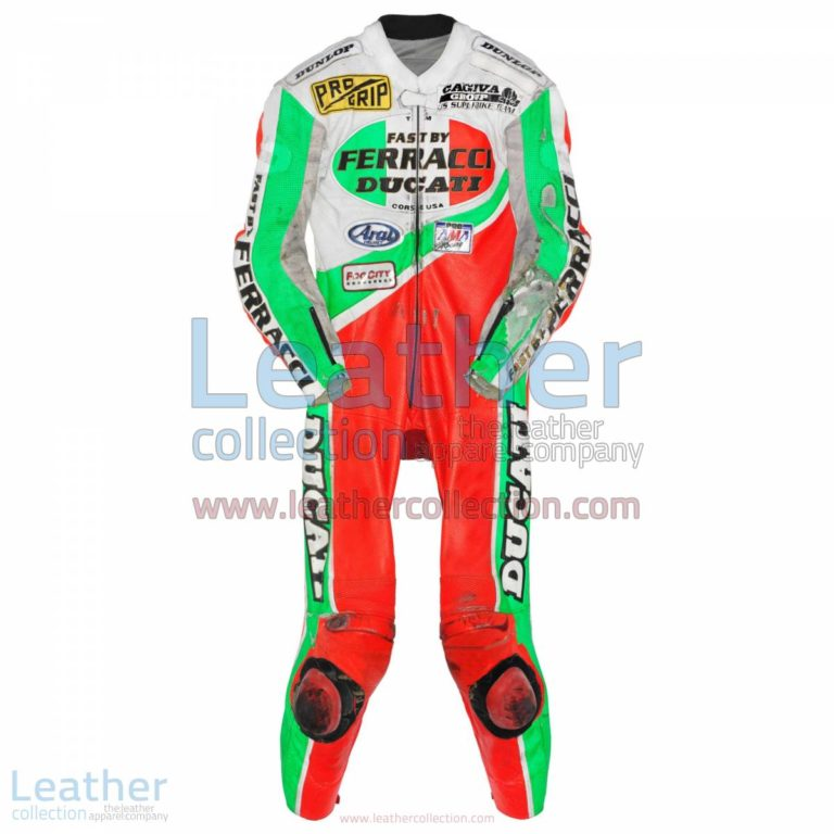 Troy Corser Ducati AMA 1994 Leather Suit | leather suit,ducati leather suit