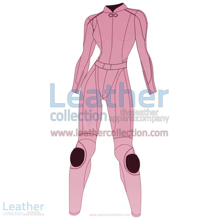 Uni Color Two-Piece Motorbike Leather Suit For Women | motorcycle Leather Suit,Uni Color Two-Piece motorcycle Leather Suit For Women