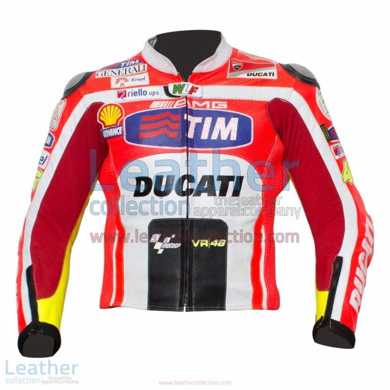 Valentino Rossi Ducati 2011 Leather Jacket | Ducati leather jacket,Valentino rossi jacket