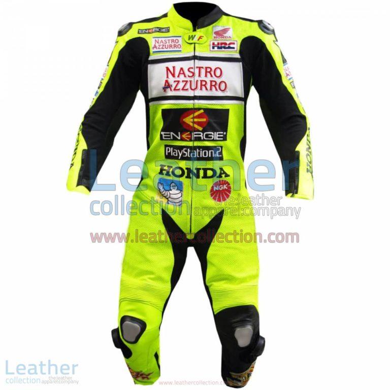 Valentino Rossi Nastro Azzurro Honda MotoGP Leathers | honda leathers,valentino rossi leathers