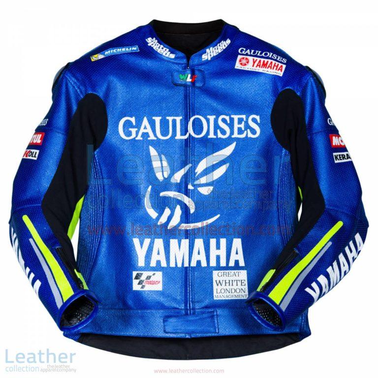 Valentino Rossi Yamaha MotoGP 2005 Leather Jacket | Valentino Rossi jacket,Valentino Rossi Yamaha MotoGP 2005 Leather Jacket