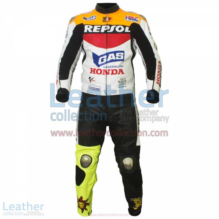 Valentino Rossi Repsol Honda MotoGP 2003 Leathers | honda leathers,valentino rossi leathers