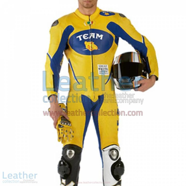 VR46 Team Motorcycle Racing Leather Suit   valentino rossi clothing,motorcycle racing suit