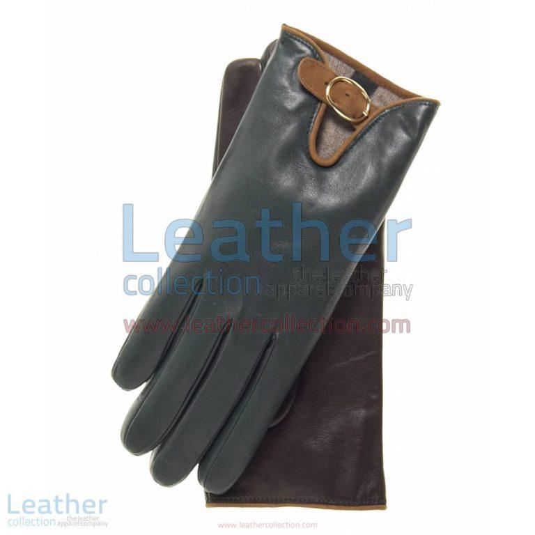 Wool Lined Buckled Gloves for Ladies | ladies gloves,wool lined gloves