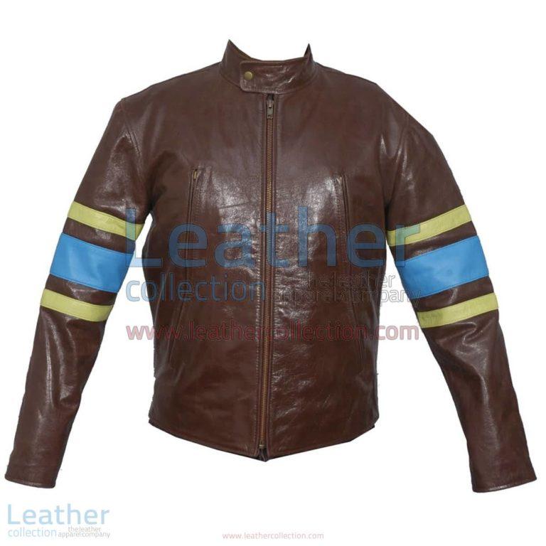 X-MEN Wolverine Origins Biker Leather Jacket | biker leather jacket,wolverine jacket