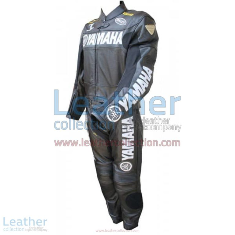Yamaha Motorbike Leather Suit Black | yamaha apparel,yamaha leather suit