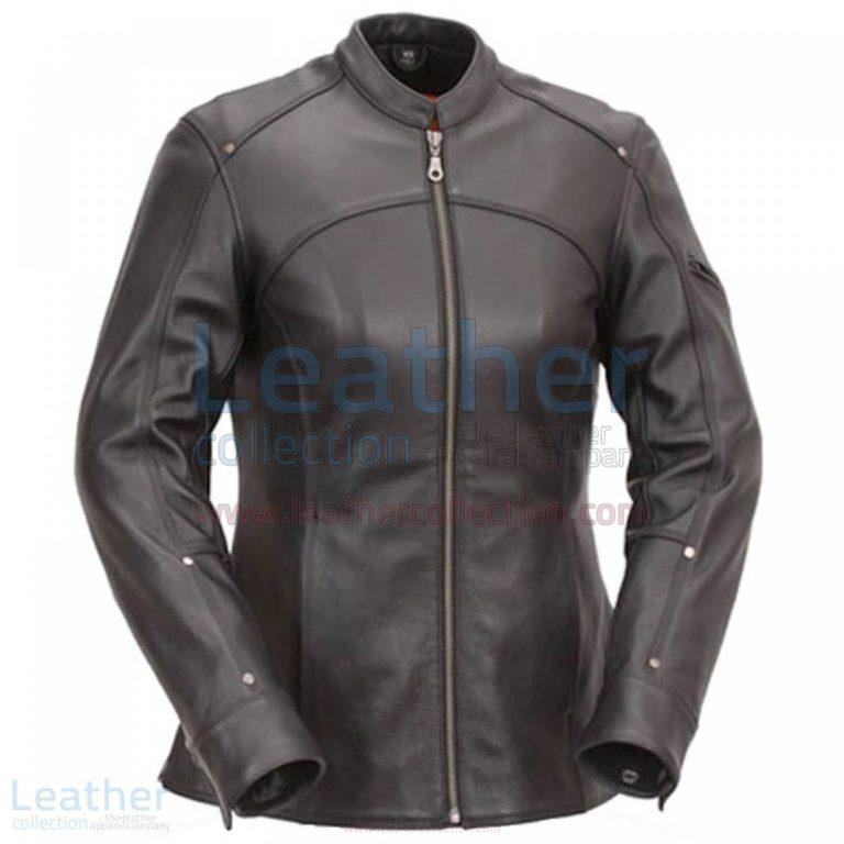 3/4 Length Touring Motorcycle Leather Jacket –  Jacket