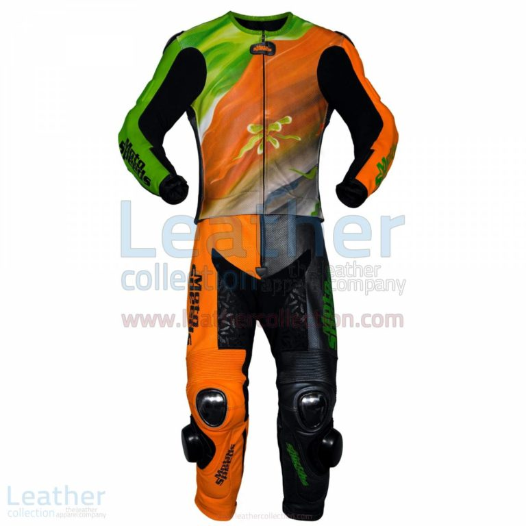 Abstract Race Leather Riding Suit –  Suit