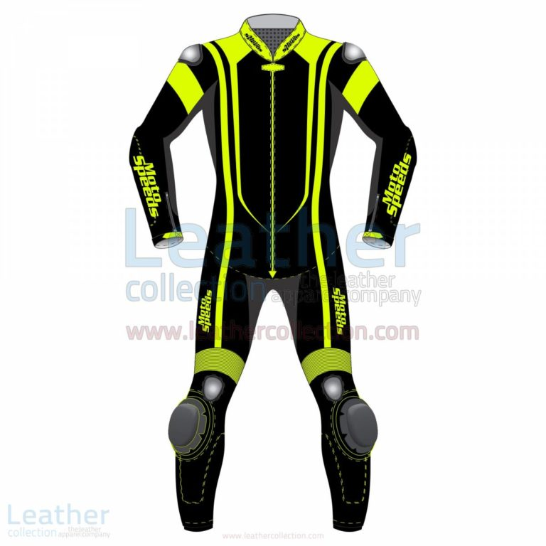 Alpha Neon Leather Motorbike Suit –  Suit