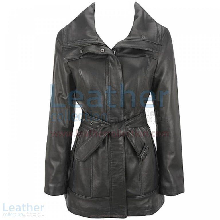 Belted Leather Duffle Coat –  Coat