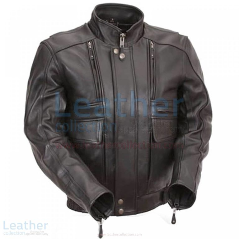Biker Naked Leather Jacket with Side Stretch Panels –  Jacket
