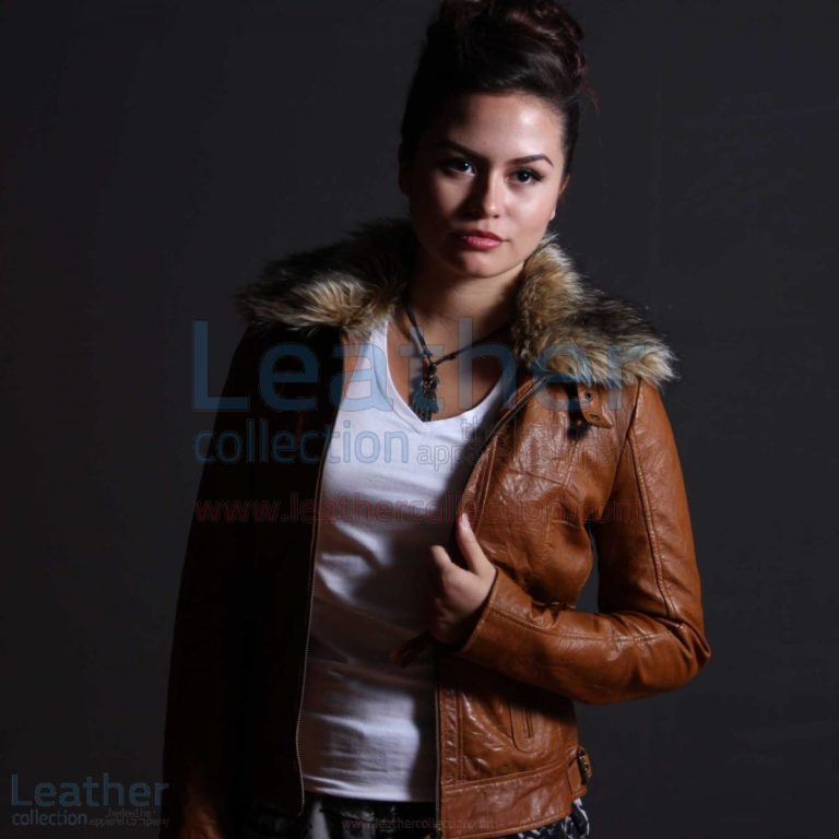 Billy Leather Brown Jacket Women –  Jacket
