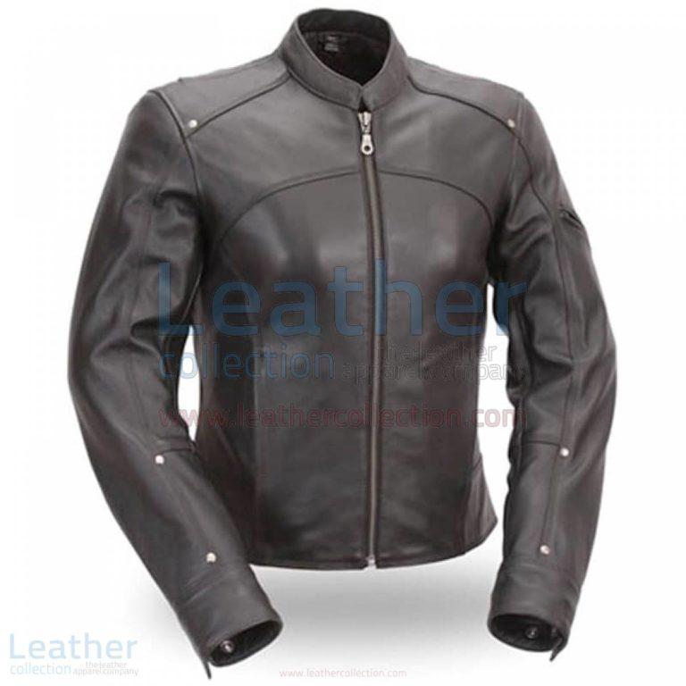 Black Leather Touring Motorcycle Jacket –  Jacket