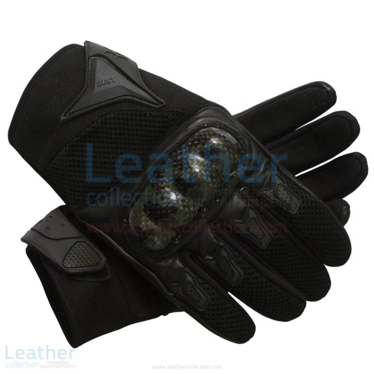 Black Short Motorcycle Gloves USA Style –  Gloves