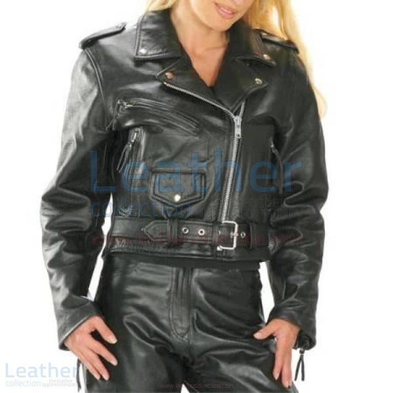 Brando Women Biker Leather Jacket –  Jacket