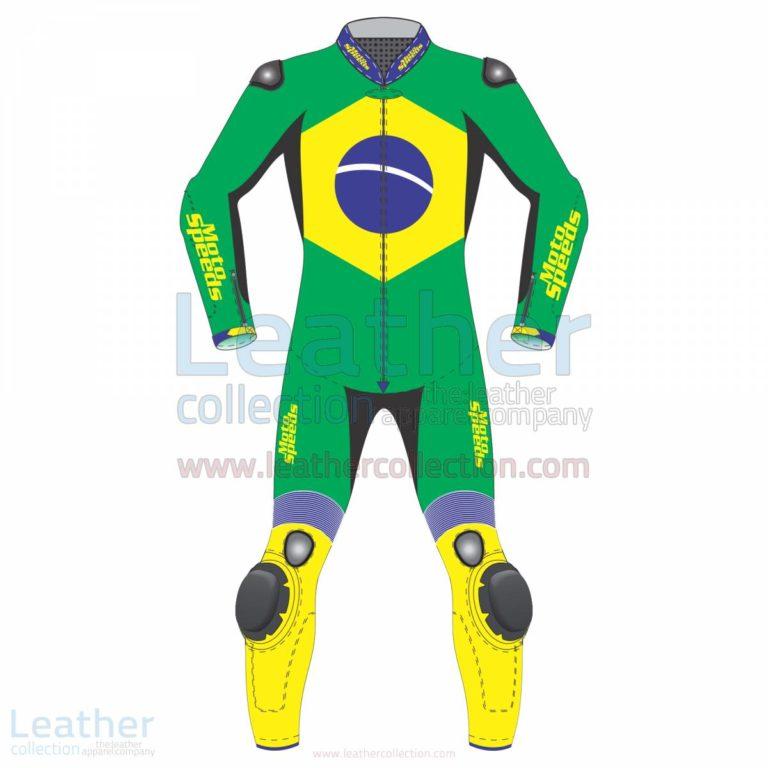Brazil Flag Moto Race Suit –  Suit