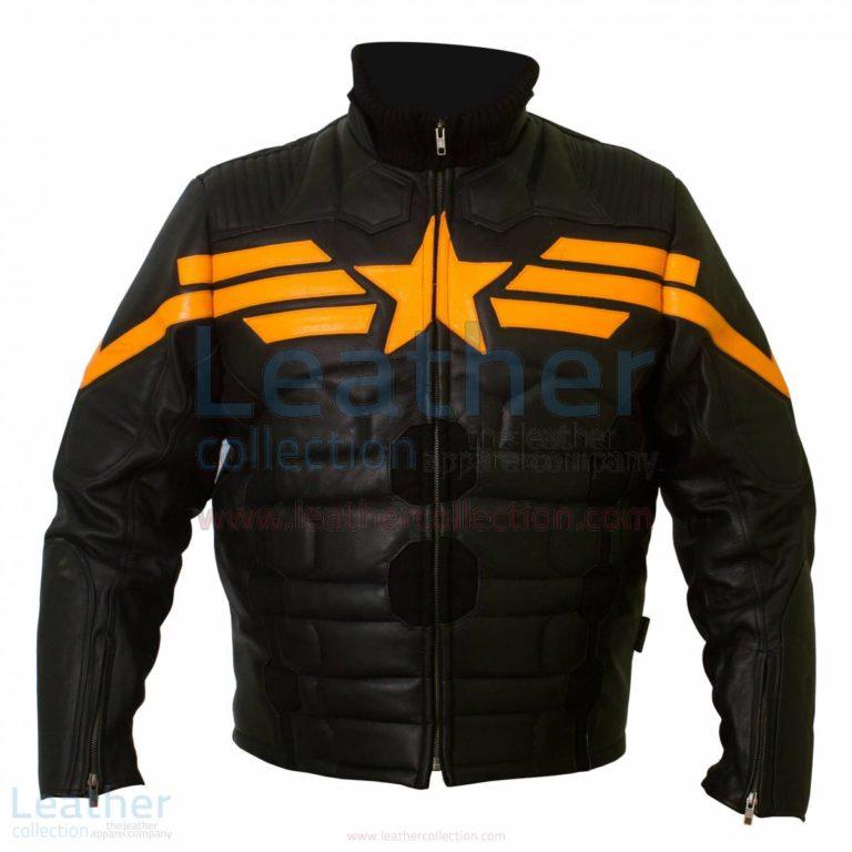 Captain America Black Biker Leather Jacket –  Jacket
