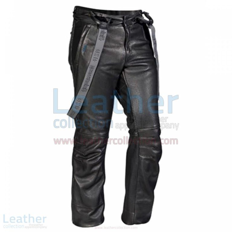 Casual Black Leather Pants –  Pant