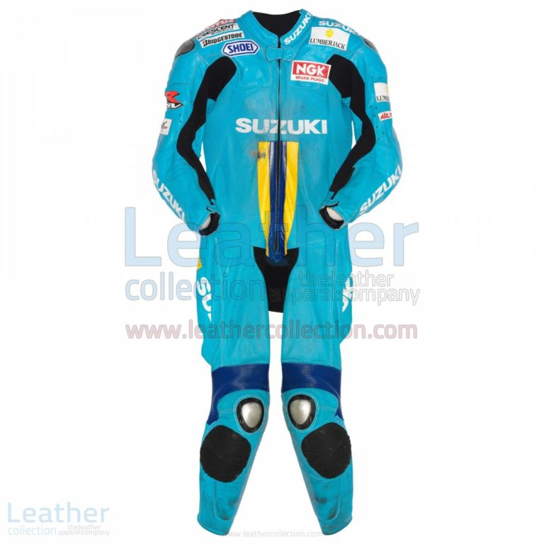Chris Vermeulen Suzuki MotoGP 2007 Leather Suit – Suzuki Suit