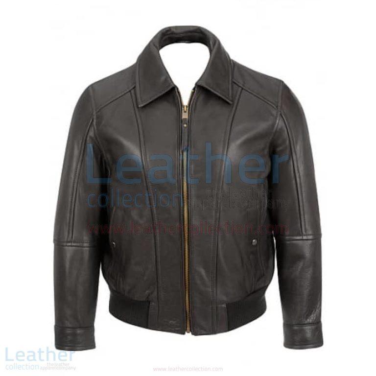 Classic Black Bomber Jacket –  Jacket
