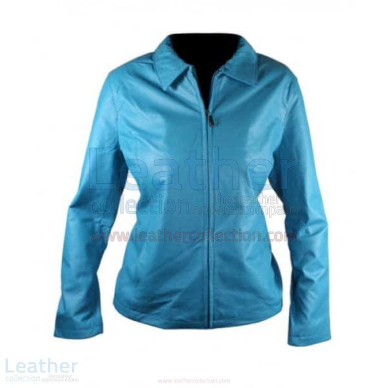 Classic Ladies Leather Jacket –  Jacket
