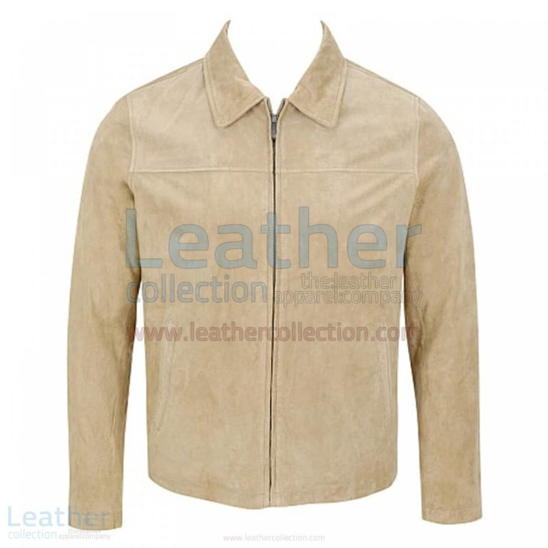 Classic Mens Suede Jacket with Shirt Collar –  Jacket