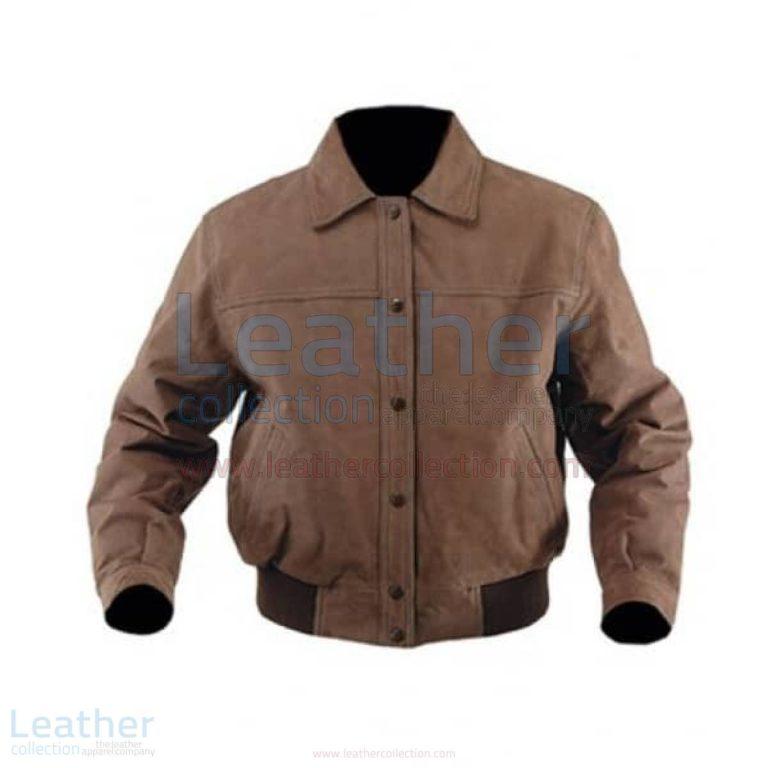 Classic Nubuck Leather Bomber Pilot Jacket –  Jacket
