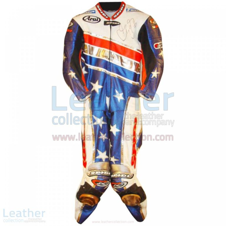 Colin Edwards Aprilia Leathers 2003 MotoGP Pre-season – Aprilia Suit