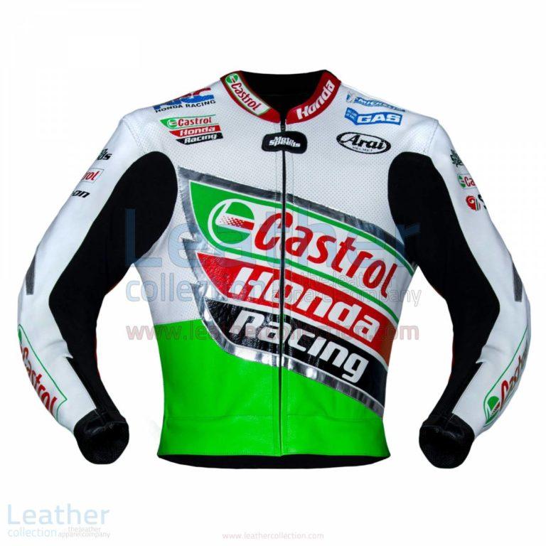 Colin Edwards Castrol 2002 WSBK Motorcycle Leather Honda Jacket – Honda Jacket