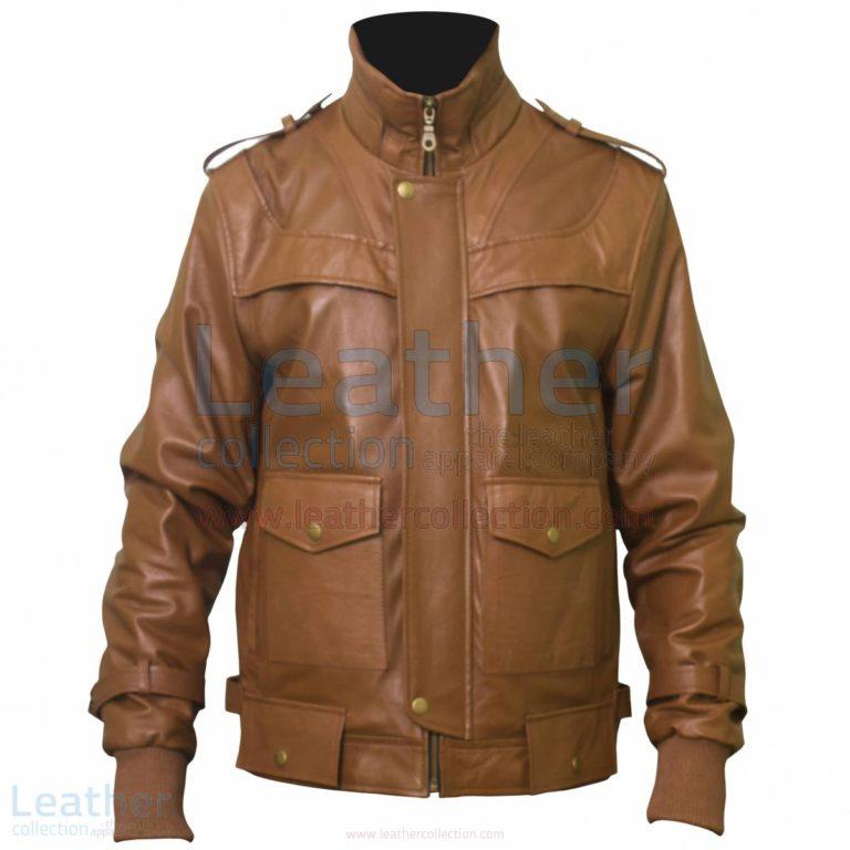 Curious Fashion Brown Leather Biker Jacket Mens –  Jacket