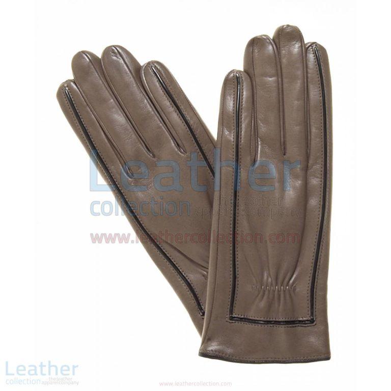 Decorative Stitching Ladies Leather Gloves –  Gloves