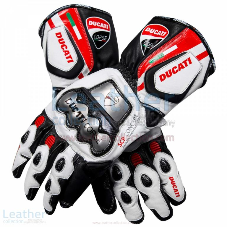 Ducati Corse Leather Motorcycle Gloves – Ducati Gloves