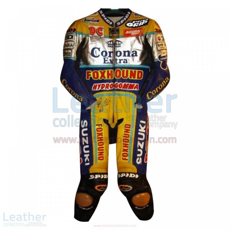 Fabrizio Pirovano Suzuki Corona Leather Suit 1998 WSBK – Suzuki Suit
