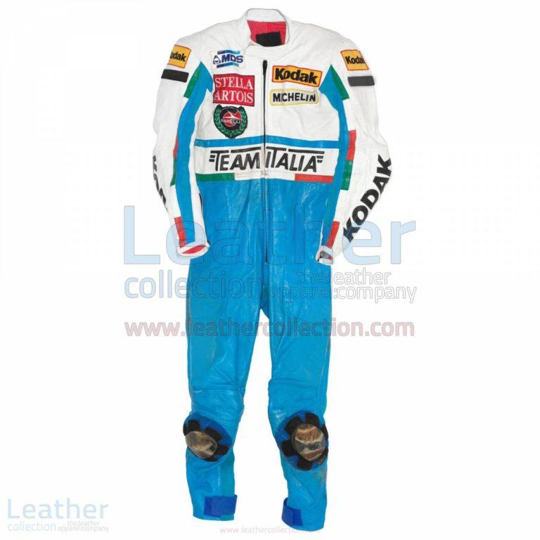 Fausto Gresini Garelli GP 1987 Motorbike Suit – Garelli Suit