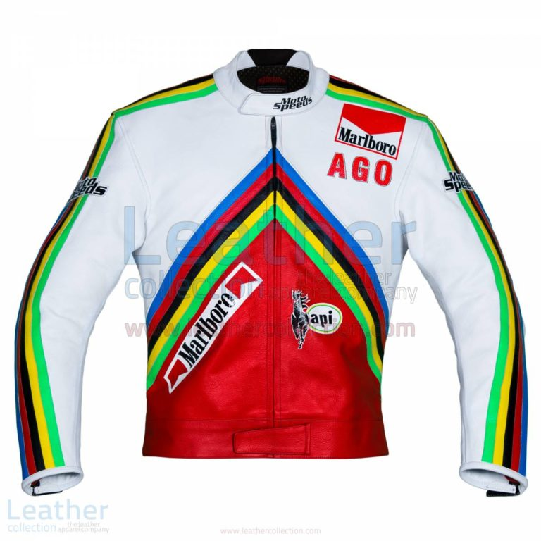 Giacomo Agostini MV Agusta GP 1975 Leather Jacket – MV Agusta Jacket