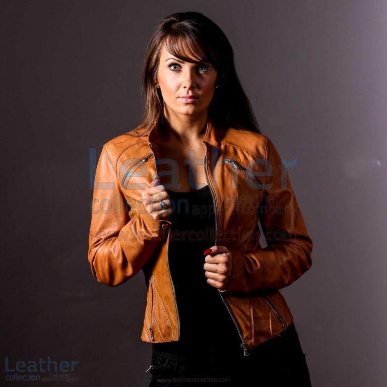 Honey Tan Leather Jacket for Womens –  Jacket